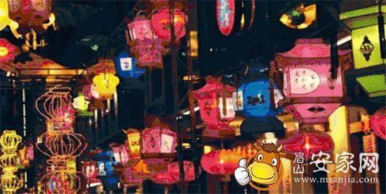 眉山东坡里音乐油纸伞灯笼美食博览会