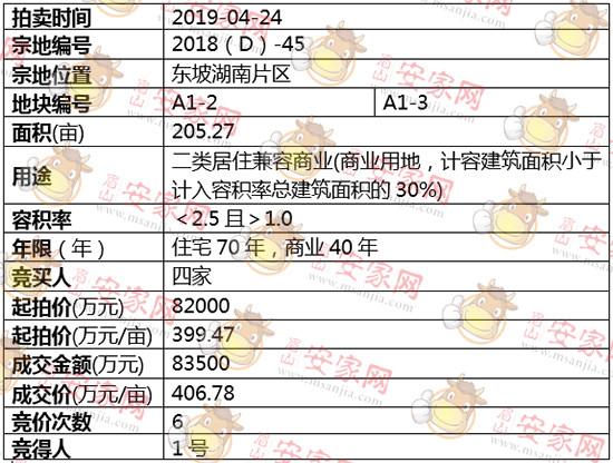 2018(D)-45号地块拍卖结果公示